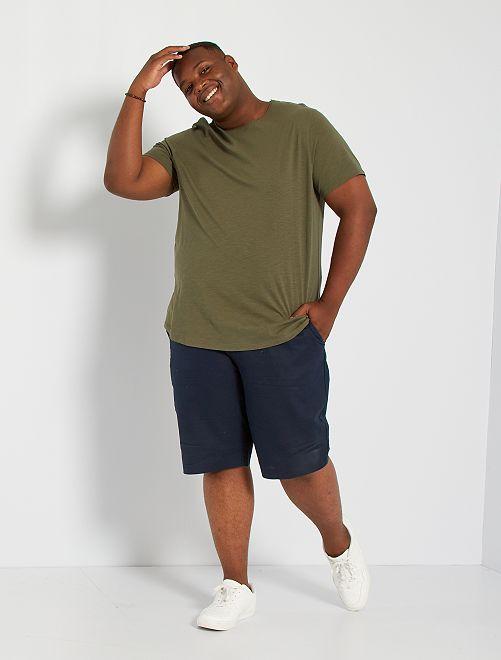 T-shirt col rond                                                     kaki
