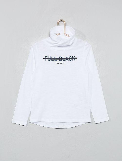 T-shirt col tube croisé                     blanc