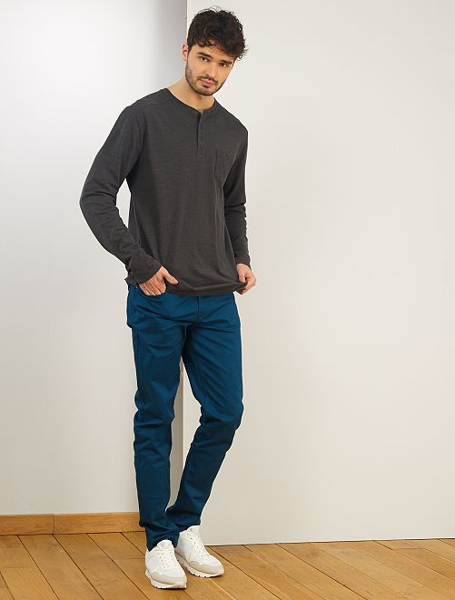 T-shirt col tunisien +1m90                                         gris