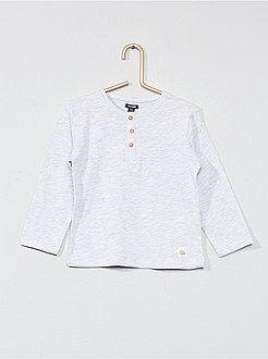 Garçon 0-36 mois - T-shirt col tunisien - Kiabi