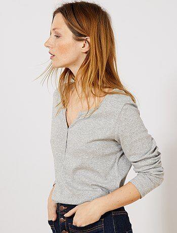 8b5b709b93e T-shirt manches longues Femme