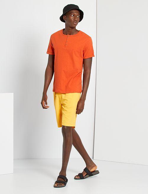 T-shirt col tunisien                                                                 orange
