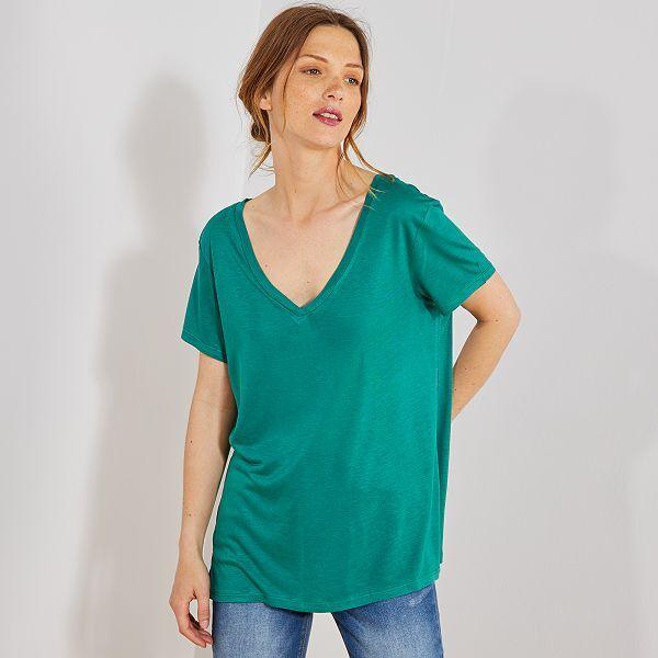 t shirt femme vert