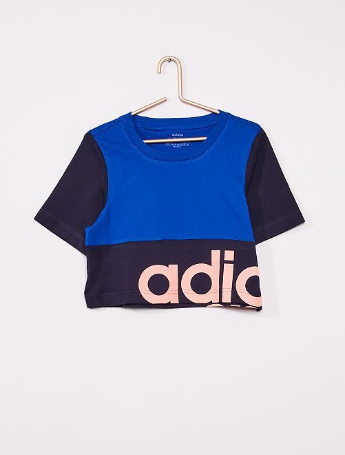 T-shirt color block 'Adidas'                             bleu