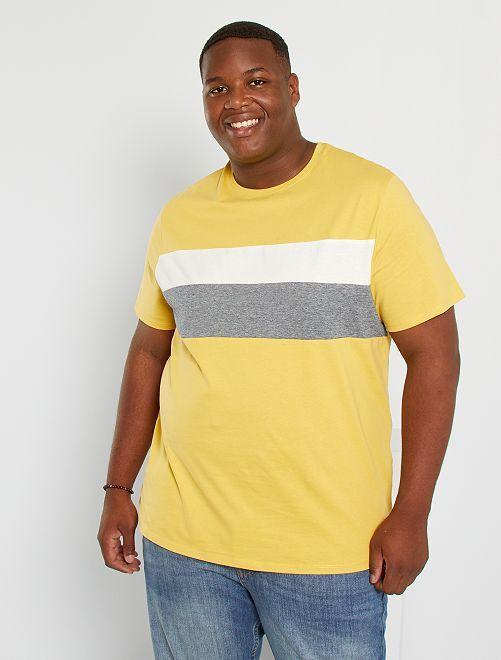 T-shirt color block éco-conçu                                         jaune
