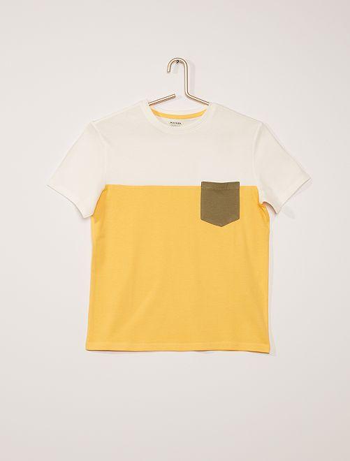 T-shirt color block                                                                 jaune