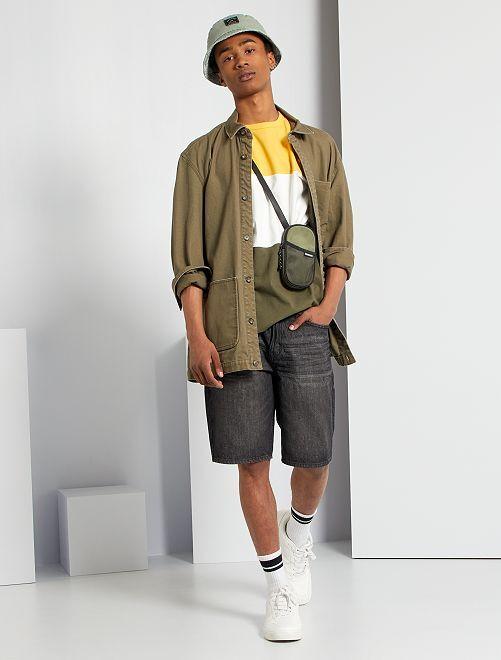 T-shirt color block                                                                 jaune/blanc/kaki