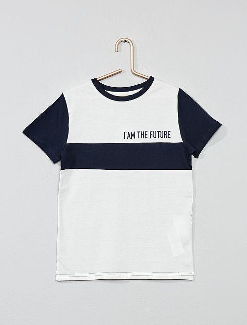 T-shirt 'color block'                                                                 marine Garçon