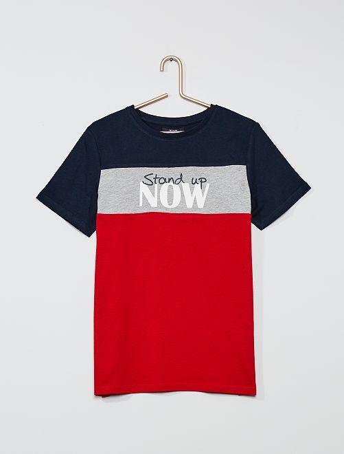 T-shirt color-block                                                                             marine/rouge