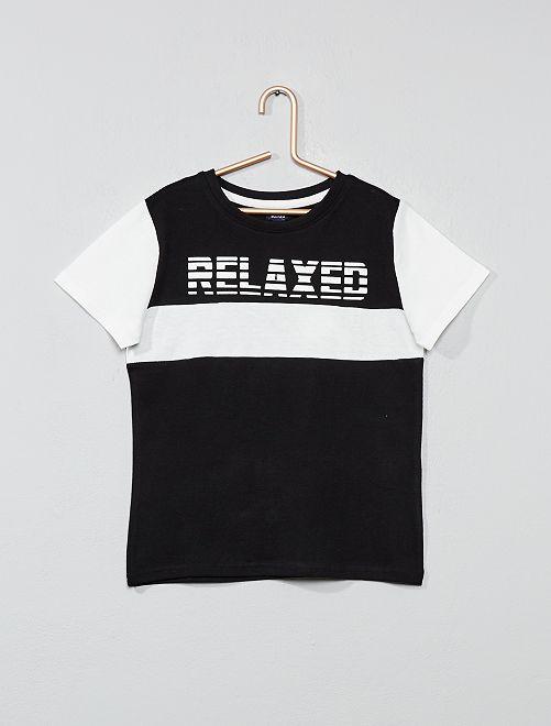 T-shirt 'color block'                                                                 noir Garçon