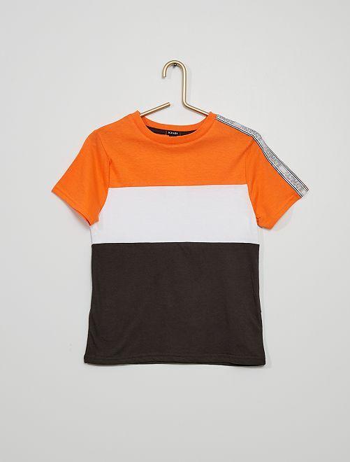 T-shirt color block                                         orange