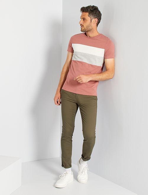 T-shirt color block                                                                                                                 rose