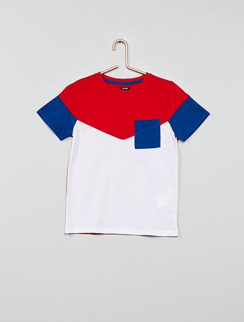T-shirt color block                                                                 rouge