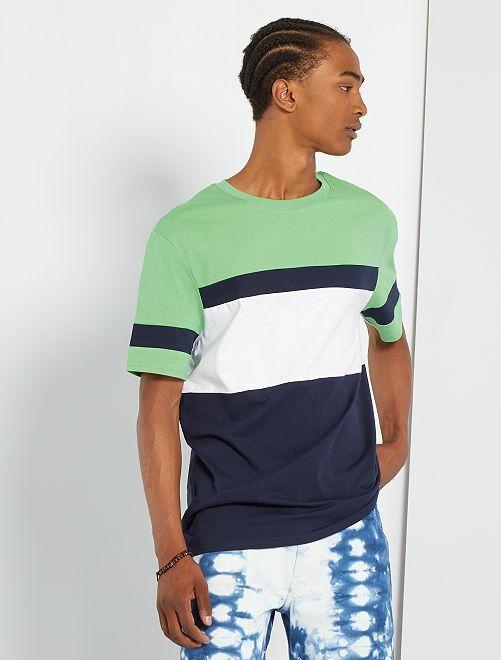 T-shirt color block                                                                 vert