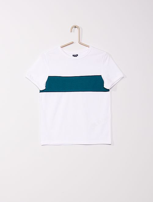 T-shirt colorblock                                                     BLANC
