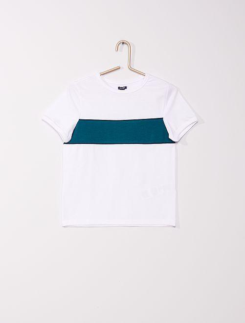 T-shirt colorblock                                                     blanc