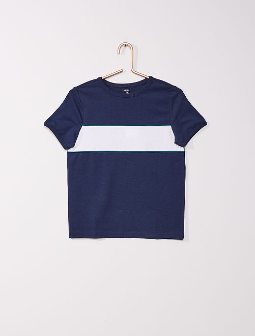 T-shirt colorblock                                                     bleu