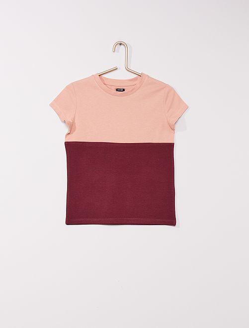 T-shirt colorblock                                                     rose/prune