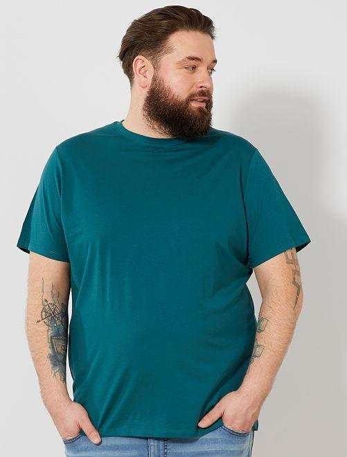 T-shirt comfort en jersey                                                                                                                                         bleu canard Grande taille homme