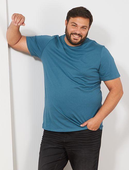 T-shirt comfort en jersey                                                                                                                                                                                                                 bleu canard