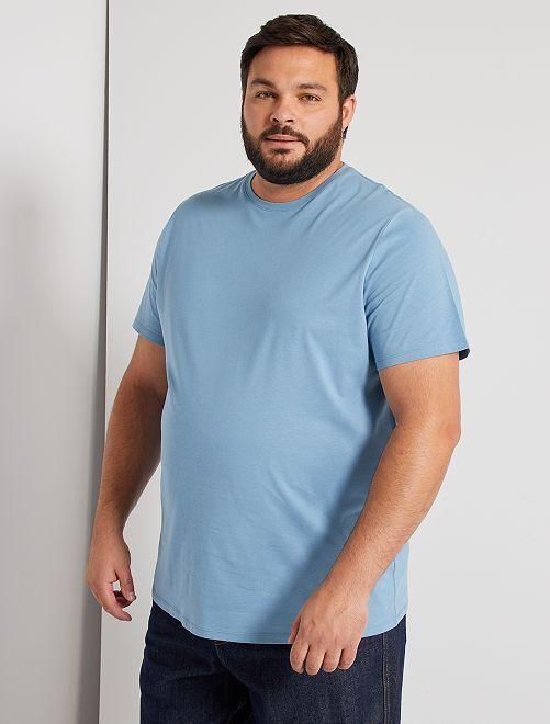 T-shirt comfort en jersey                                                                                                                                                                                         bleu gris