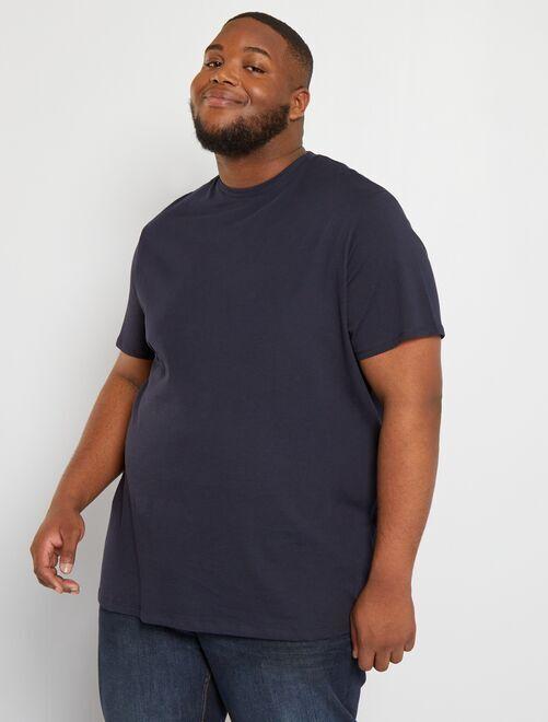 T-shirt comfort en jersey                                                                                                                                                                                                     bleu marine Grande taille homme