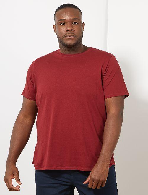 T-shirt comfort en jersey                                                                                                                                                                                                     bordeaux