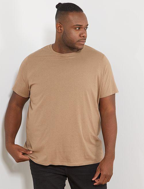 T-shirt comfort en jersey                                                                                                                                                                                         gris beige