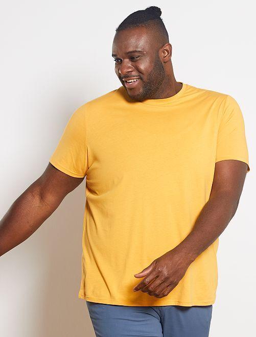 T-shirt comfort en jersey                                                                                                                                                                                                                             jaune