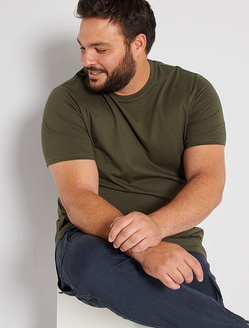 T-shirt comfort en jersey                                                                                                                                                                             kaki
