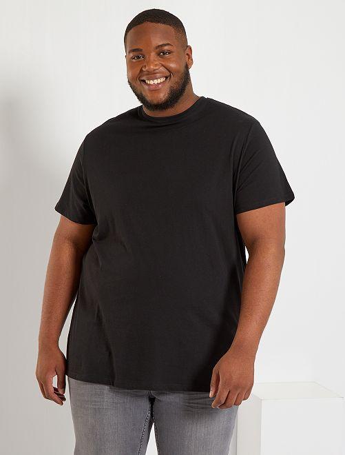 T-shirt comfort en jersey                                                                                                                                                                                                                 noir Grande taille homme