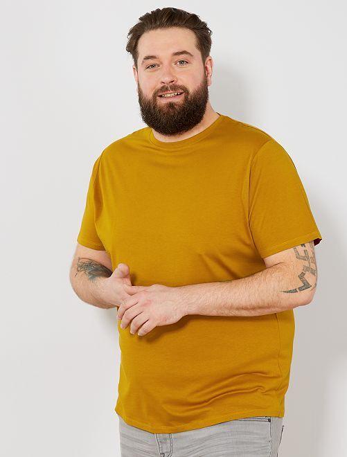 T-shirt comfort en jersey                                                                                                                                                                                                     ocre Grande taille homme