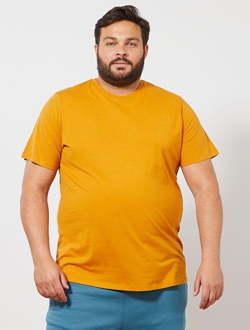 T-shirt comfort en jersey                                                                                                                                                                                                     ocre