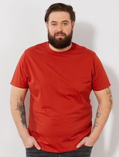 T-shirt comfort en jersey                                                                                                                                                                                                     orange Grande taille homme