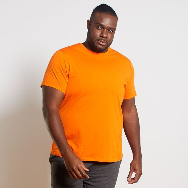 t shirt homme orange