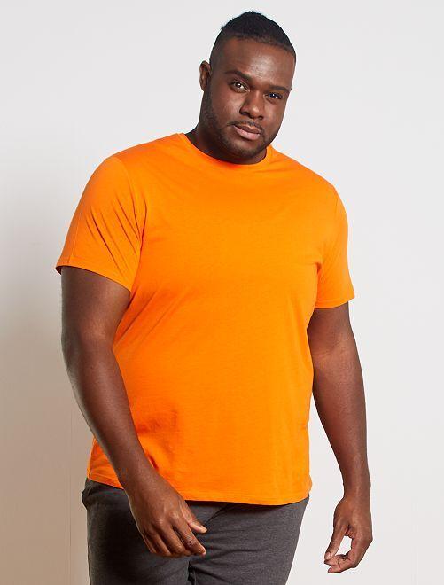 T-shirt comfort en jersey                                                                                                                                                                                                                 orange