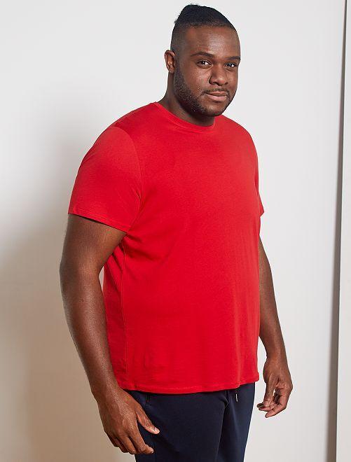 T-shirt comfort en jersey                                                                                                                                                                                                                 rouge