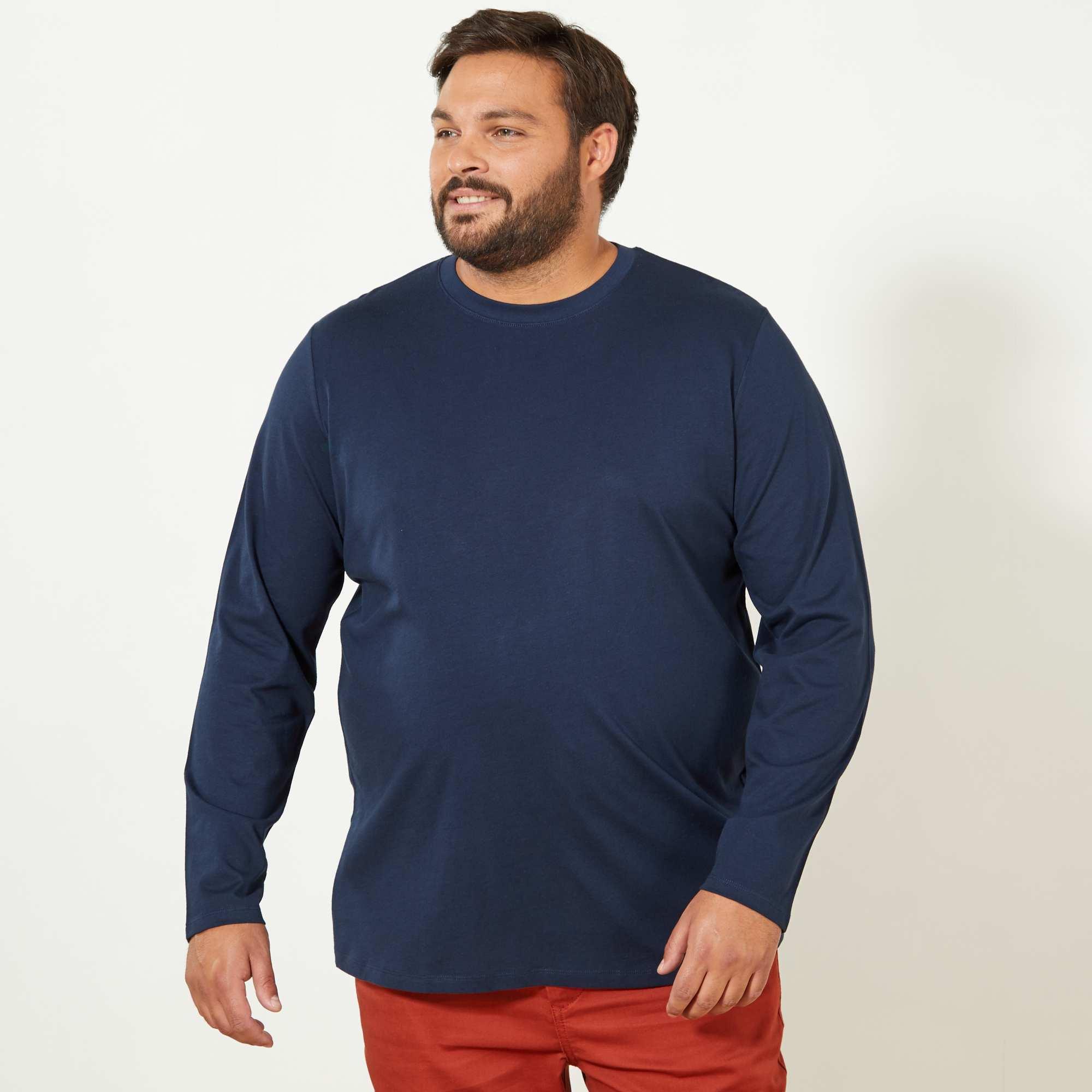 t shirt comfort uni grande taille homme bleu marine. Black Bedroom Furniture Sets. Home Design Ideas