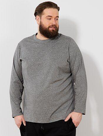 b2a6a90041456 Soldes t-shirt manches longues grande taille homme - vêtements homme ...