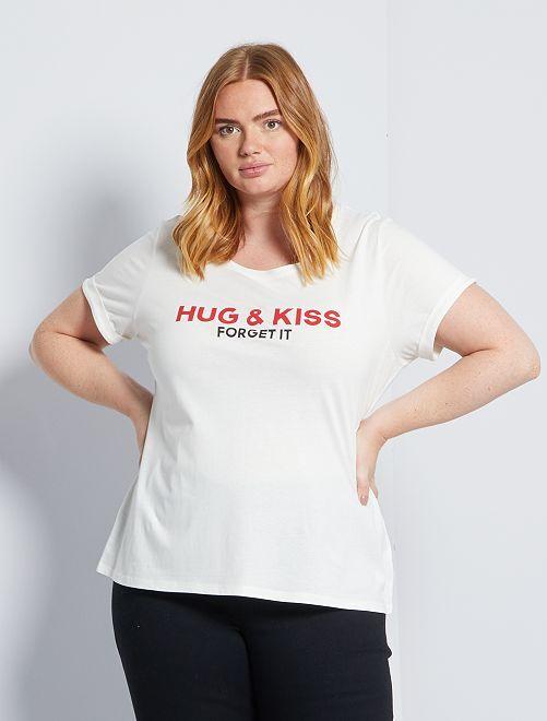 T-shirt 'confinement' éco-conçu                                                                 blanc