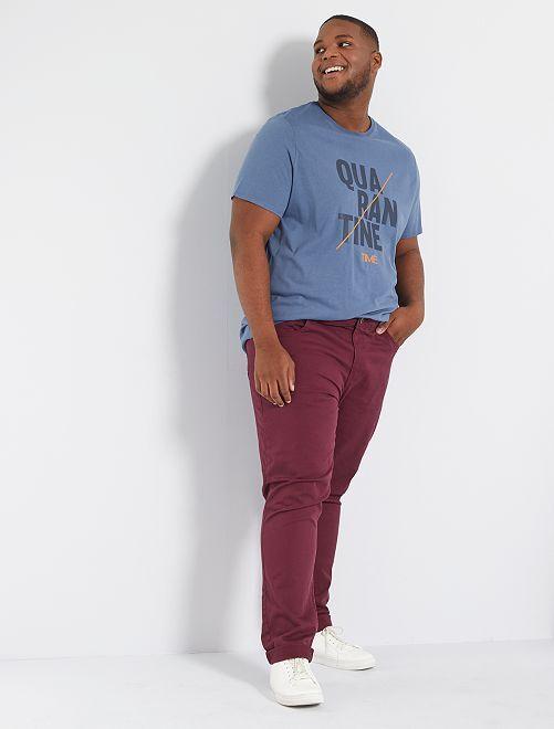 T-shirt 'confinement' éco-conçu                                                     bleu gris