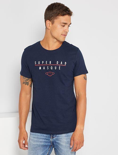 T-shirt 'confinement' éco-conçu                                                                 bleu superdad