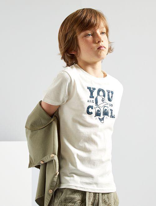 T-shirt 'cool'                                                                                                                                                                 blanc
