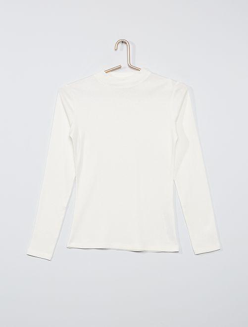 T-shirt côtelé éco-conçu                                                                                                     blanc