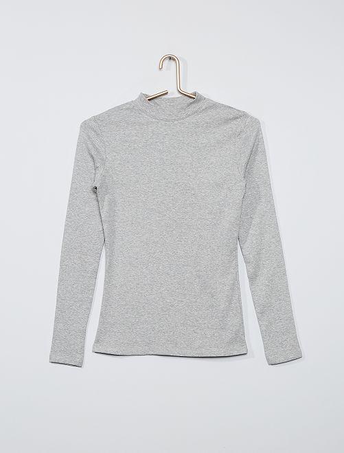 T-shirt côtelé éco-conçu                                             gris
