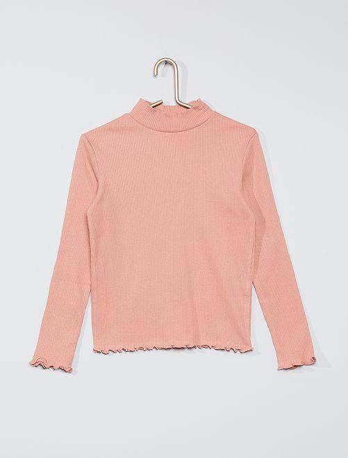 T-shirt côtelé                                                                             rose