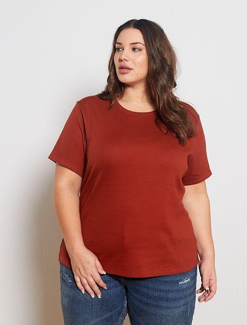 T-shirt côtelé                                                     rouille