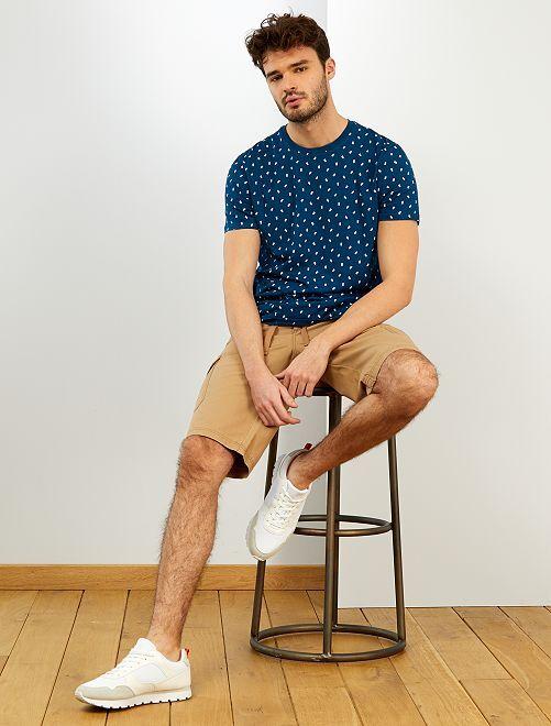 T-shirt coton bio +1m90 'éco-conception'                                                                 bleu canard