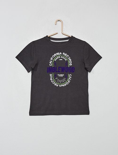 T-shirt coton bio                                                                                                                 anthracite