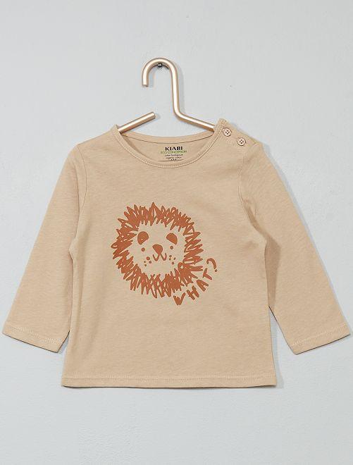 T-shirt coton bio                                                                                                                                                                                                     beige/lion